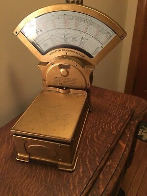Triner Brass Postal Scale Chicago All Steel