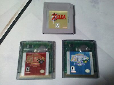 Legend of Zelda Oracle of Ages & Seasons + Link's Awakening Gameboy Authentic GB