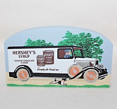 "99 Faline Cat's Meow ""HERSHEY'S SYRUP DELIVERY TRUCK"" Shelf Sitter Signed"