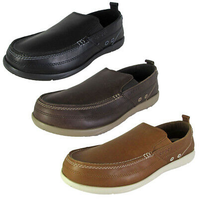 63f0cf7de5460 CROCS MENS HARBORLINE Slip On Moc Toe Loafer Shoes -  44.99