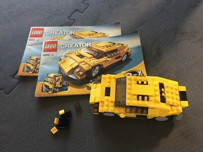 Lego 4939 Creator Cool Cars 3 In 1 Complete With Instructions