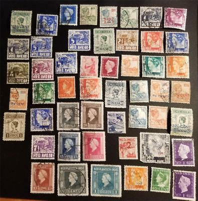 NETHERLAND INDIES with OVERPRINTS Vintage Stamp Collection Lot D186