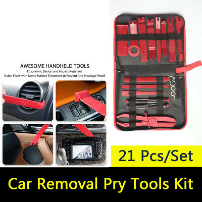 21pcs Car Auto Body Door Panel Console Dashboard Trim Removal Plastic Tools Kit