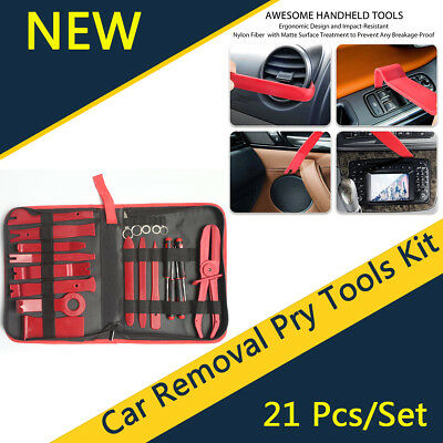 21Pcs Car Audio Door Clip Panel Trim Dashboard Kit Radio CD Removal Pry Tool Set