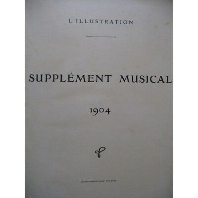 The Supplement illustration Musical Piano Singer 1904 partition sheet score