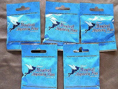Disney * MAGICAL MYSTERY PINS - SERIES #6 * 5 PACKS * NEW Mystery Pack Pins