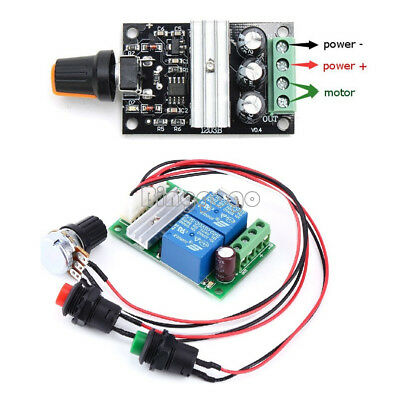 NEW 6V-24V 3A DC Motor Speed Control Controller PWM Regulator Reversible Switch