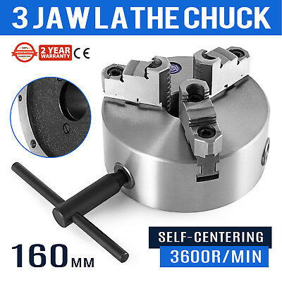"""1 pc Lathe Chuck 6"""" 3 Jaw Self Centering w/ Reversible Jaw K11-160A S"""