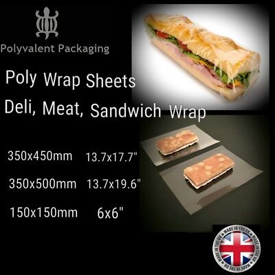Deli Wrap, Sandwich wrap, Butchers meat Wrap, Poly Sheets,Takeaway, Fast food