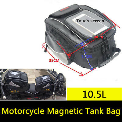 Universal Motorcycle Sport Bike Magnetic Tank Bag Luggage Waterproof Cover Black
