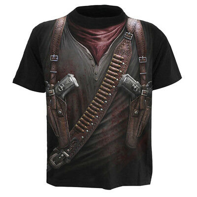 Funny 3D The Gun Knife Print T-Shirt Summer Fashion Women/Men Shirt Tee Tank Top