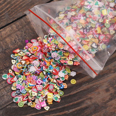 Mixed 1000X Animal/Fruit/Flower Nail Art Fimo Cane Polymer Decals Nail Tip Decor