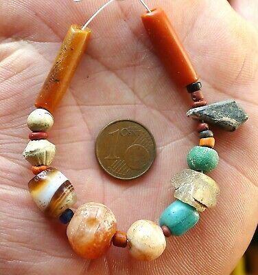 25mm Perles Verre Ancien Romain Egypte Ancient Roman Egypt Bactrian Glass Beads