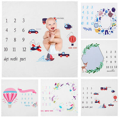 Infant Baby Milestone Blanket Photography Prop Blankets Letter Backdrop Cloth
