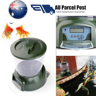 4.25L Fish Pond Feeder Digital Automatic Food Dispenser Timer LCD Tank Holiday