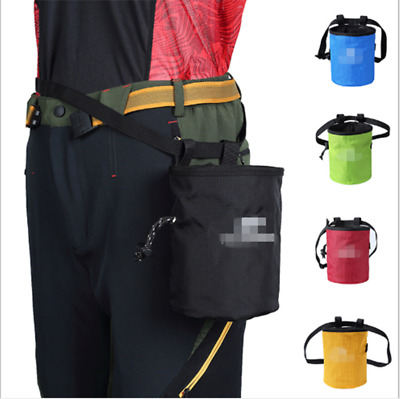 Premium Large Chalk Bag for Bouldering Climbing Gymnastics with Waist Belt