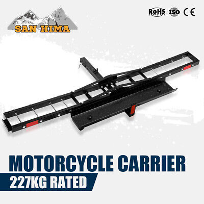 500LBS Foldable Motorcycle Rack Carrier 2 inch For Car Rear Towbar Hitch Mount