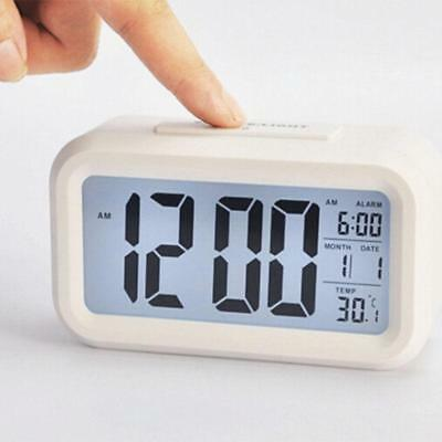 Calendar Digital Snooze Alarm Clock Backlight LED Table Clock Time Temperature