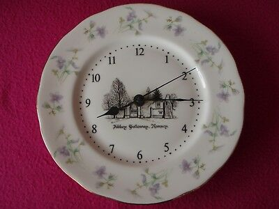 Ramsey Abbey - Bone China Wall Clock with Junghans 738 German Movement - Exc