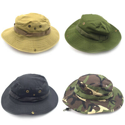 14b13764372 Bucket Hat Boonie Hunting Fishing Outdoor Men Cap Washed Cotton NEW W   STRINGS