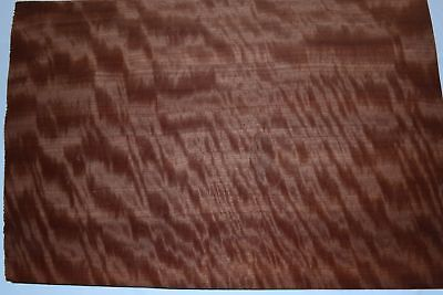 Makore Raw Wood Veneer Sheets 14 x 19 inches 1/42nd thick             4706-30