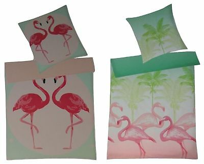 Villa Noblesse Renforce Bettwäsche Set 135 x 200 cm Flamingo Muster