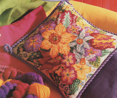 Spring Flowers  Needlepoint Tapestry Chart Dazzling Cushion Daffodil Tulip etc