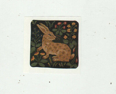 Rabbit Tapestry Needlepoint Chart in Colour Candace Bahouth Ehrman Rug