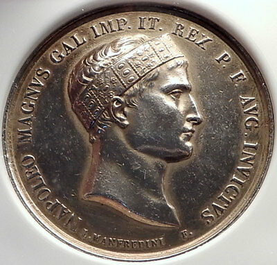 1809 FRANCE Napoleon Bonaparte BATTLE of WAGRAM 4.2cm French Medal NGC i70024