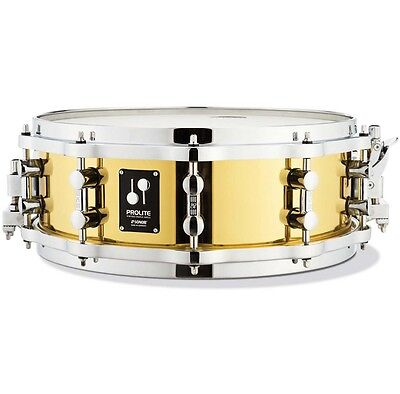 """Sonor Pl 12 1405 Sdbd Prolite Messing Snare Drum 14 """" x 5 """" with Die-Cast Hoops"""