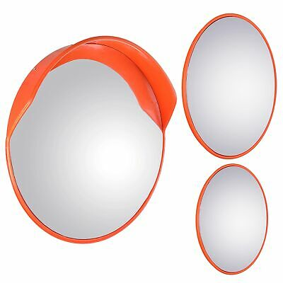 "12"" 18"" 24"" Wide Angle Convex PC Mirror Wall Mount Corner Security Blind Spot"