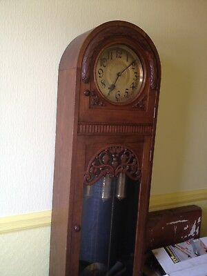 Antique Oak Longcase/Grandfather Artdeco Clock