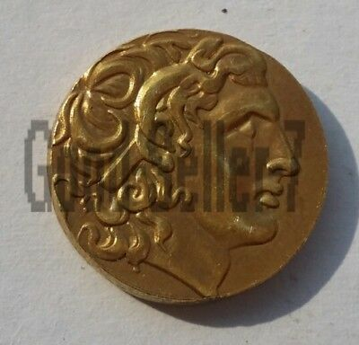 Rare Alexander III Collectible Ancient Greek Coins 336-323 BC Gold Plated Drachm