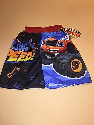 fa5695a7b0ede Blaze and the Monster Machines Toddler Boy Swimming Trunks Shorts 3T New UPF  50