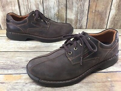 38a6505586f9 ECCO LIGHT SHOCK Point Brown Leather Oxfords Mens sz 10-10.5   44 ...