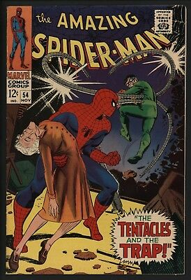 Amazing Spider-Man 54. Vfn Plus.  Super Glossy, White Pages.