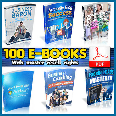 Valuable 100 eBooks Package Collection | Pdf Format | With Master Resell Rights