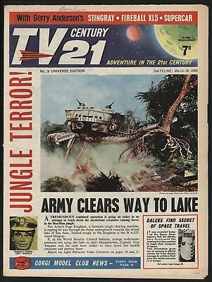 TV CENTURY 21 #9 MARCH 20th 1965. NICE 'ORIGINAL OWNER' COPY FIREBALL XL5/DALEKS