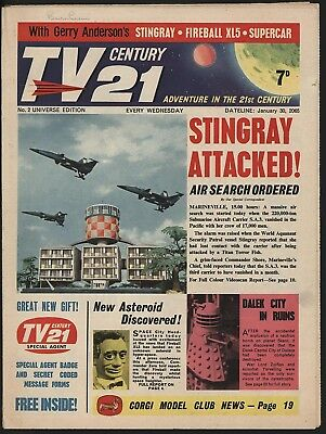 Tv Century 21 #2 Jan 1965 Amazing 'Survivor' Comic! Daleks/fireball Xl5/stingray