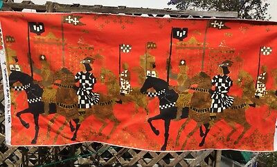 "Tibor Reich ""atournament"" Fabric Hanging Design No 322 Made In England Vintage"