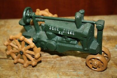 Antique Style Cast Iron John Deere Tractor RUSTIC Ranch Home DECOR Farm
