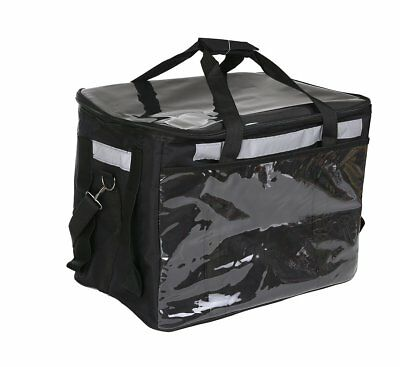 """Professional Food Delivery Bags with Bracket,17""""×10.7""""×12.7""""(Black)"""