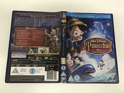 Walt Disney Pinocchio 70th Edition Platinum Edition (DVD 2-Disc Set) MINT