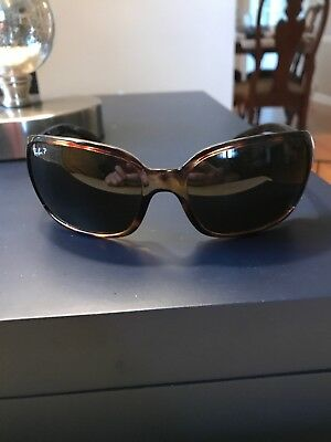 Ray-Ban Women s Polarized Highstreet RB4068-642 57-60 Brown Wrap Sunglasses f3cbbcbec39c