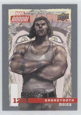 2016 Upper Deck Marvel Annual #128 SP Sabretooth Non-Sports Card 3vx