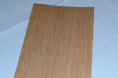 Oak Raw Wood Veneer Sheets 4 x 48 inches 1/42nd thick      E4712-45