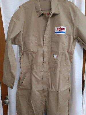 VINTAGE EXXON SHIPPING COMPANY WORK SAFELY COVERALLS  LONG-SLEEVE 46T New