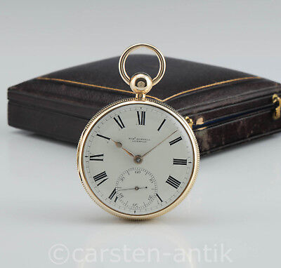 Robert Roskell 1825 18k Gold Massey-Typ-II Marine Chronometer B-Uhr Original Box