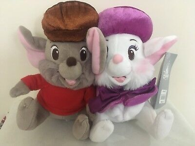 Disney The Rescuers 17cm Bianca & Bernard Soft Plush Toys, New with tags