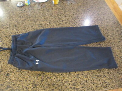 Under Armour Black Athletic sweat Pants YMD Med boys girls joggers Elastic draw